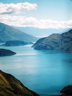 Lake Wanaka - View from Mt. Roy,Otago, South Island, New Zealand Wanaka is my most favorite place in the whole world. Great photo, not seen it from this angle before! Places Around The World, Oh The Places You'll Go, Places To Travel, Places To Visit, Around The Worlds, Lake Wanaka, New Zealand Travel, Great Barrier Reef, Belle Photo