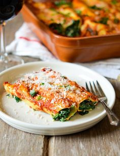 Spinach and Ricotta Cannelloni | Recipe: manykitchens.com