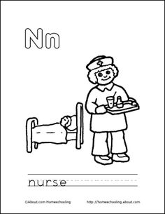 Letter N Coloring Book