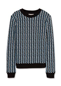 16 Chic Pieces to Help You Brave the Cold - Neoprene Sweatshirt from #InStyle