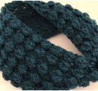 Infinite Scarf With Embossed Leaves