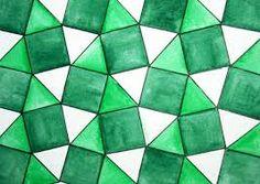 trama generada a partir de triángulos eq. y cuadrados