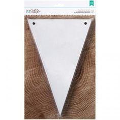 DIY Shop Chipboard Banner - White Pennant