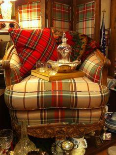 A Pleasant House: Tartan Treasures. like plaid chair