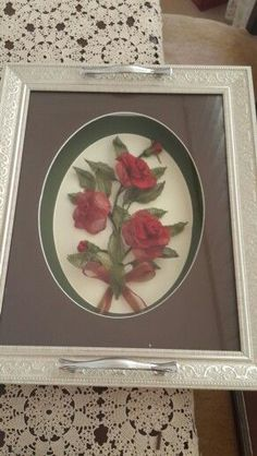 Needlework, Diy And Crafts, Decorative Plates, Tray, Embroidery, Sewing, Rose, Home Decor, Needlepoint