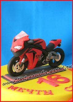 Торт с мотоциклом от пользователя «navaxa» на Babyblog.ru