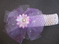 Lavender Frosted Tulle with Swarovski by CraniumDecorAndMore, $6.50