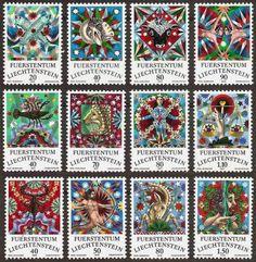 Liechtenstein 1976 Zodiac stamps