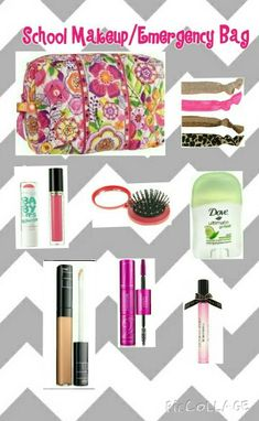 Back to school makeup bag! I think is perfect for Middle school and maybe add some more products for high school.