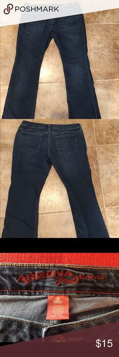 Arizona Jeans,bootcut, size 15 short Arizona boot cut jeans, size 15 short. Worn only once.  Comfortable stretch, no fraying on hems. Arizona Jean Company Jeans Boot Cut