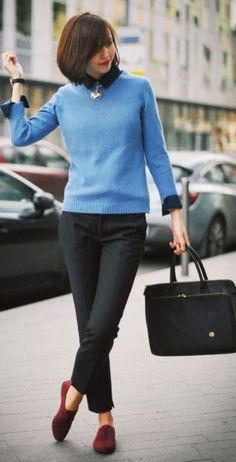 041732b8496 35 Comfy Office Fall Outfits Ideas. Business Casual Outfits For  WomenBusiness ...