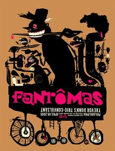 The Fantomas Concert Poster by The Little Friends of Printmaking