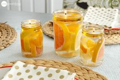 How To Make A Beautiful Mason Jar Water Candle - One Good Thing by Jillee