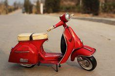 OurSanli:: Handmade Antique Tin Model Motorbike -VESPA Scooter 1958 - Handmade Tin Model MotorCycle