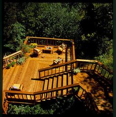 Redwood deck amongst the trees. Imagine relaxing here and taking in the view!