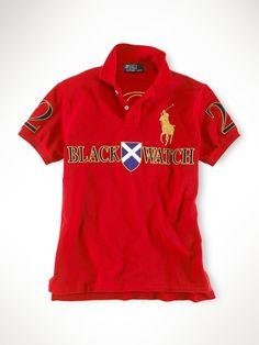 fd09e883a0 Ralph Lauren Custom Fit Black Watch Polo Red Polo T Shirts