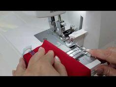 BERNINA overlocker/serger L 460 / L 450: overlocking elasticated materials perfectly - YouTube