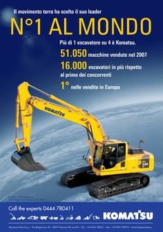Advertising Komatsu Italia