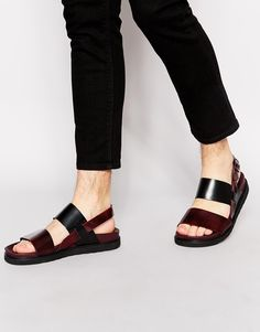 Image 1 of ASOS Sandals in Leather