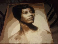 My customer, Karen Hodges, did a fabulous job crocheting this piece of her mom from one of my crochet photo patterns.