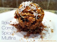 #PureFuel: Raw Carrot Spice Muffins