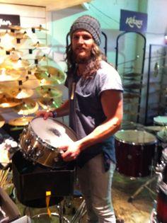 Karl Ammitzboll drummer of Kisschasy visits Revolver Drums