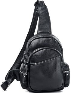 New fashion mens sling shoulder bag top unisex leather black brown backpack   Tiding  MessengerShoulderBag 93bf3e4896175