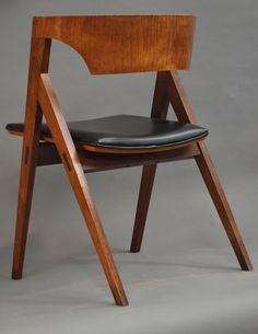 David N. Ebner; Walnut and Curley Maple Side Chair, 1965.