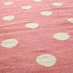 Lotsa Polka Dots Rug Pink In All Rugs The Land Of Nod