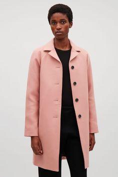 COS image 2 of Wool car coat  in Pink