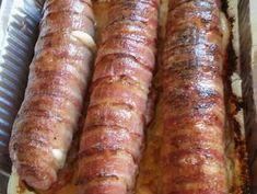 Baconos sajtos tekercs | Moór Katalin receptje - Cookpad receptek Green Eggs And Ham, Party Platters, Fine Dining, Sausage, Bacon, Pork, Health Fitness, Food And Drink, Cooking Recipes