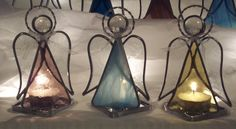 Stained Glass Angel with tealight by theglassalley on Etsy, $8.00