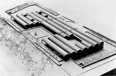 Kimbell Art Museum site model (circa September 1968), the fourth version of the…