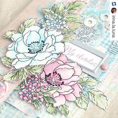 Hey, lovely! Hope you all have a fabulous day! #BeautifulDayStampSet #Repost @irina.la.luna with @repostapp. ・・・ Мои новые цветочные штампики от @altenewllc уже красуются на папке для эскизов my new stamps on my new folder for sketches #handmade #scrap #scrapbooking #ручнаяработа #cardmaking #roses #розы #папкадляэскизов #card #акварель #watercolor #paint #altenew #sketchfolder