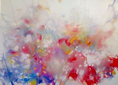 """""""Pink Noise"""" 30""""x40"""" oil on canvas #art #painting by Alison Jardine contemporary artist and painter based in Dallas, USA. twitter.com/alisonjardine alisonjardine.com"""