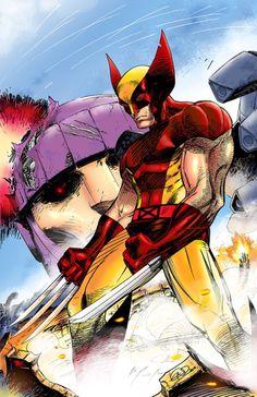 kingsleyvintage:  Wolverine: 1 Sentinel: 0