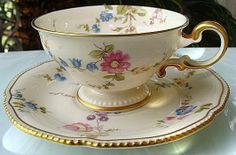 CASTLETON USA SUNNYVALE FOOTED CUP AND SAUCER to replace my chipped cup!