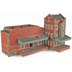 N Scale Small Factory - Railway Models & Toys from Metcalfe - Ready Cut Card Kits