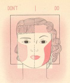 1940s makeup – the square Face.