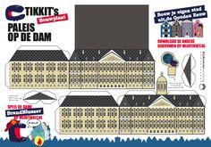 Bouw je eigen stad uit de Gouden Eeuw - Museumkids Paper Houses, Paper Models, Holland, Periodic Table, Printables, Cool Stuff, Building, Jumping Jacks, Projects