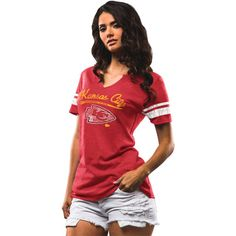 Kansas City Chiefs Majestic Women's Game Tradition T-Shirt - Red - $29.99