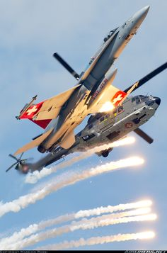 100 years of Swiss Air Force - Photo taken at Payerne (LSMP) in Switzerland on September Military Helicopter, Military Jets, Military Aircraft, Air Force Aircraft, Fighter Aircraft, Fighter Pilot, Fighter Jets, Swiss Air, Air Machine