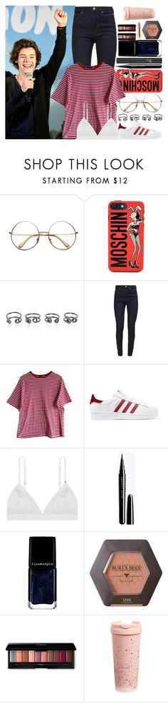 """""""With Harry Styles"""" by angelbrubisc ❤ liked on Polyvore featuring Moschino, Maison Margiela, Calvin Klein, adidas Originals, Christian Dior, Illamasqua, Too Faced Cosmetics and ban.do"""