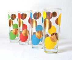 Mid-Century Russel Wright Eclipse Tall Glass Tumblers