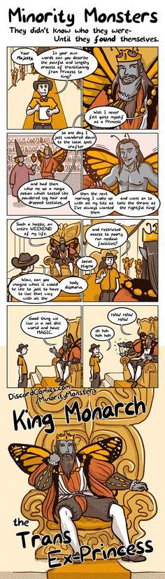 Discord Comics: Minority Monsters. King Monarch the Trans Ex-Princess