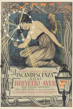 Art Nouveau Poster, Art Deco Posters, Fashion Illustration Vintage, Graphic Illustration, Art Deco Tattoo, Italian Posters, Simple Poster, Beautiful Book Covers, Poster Ads
