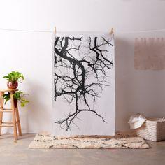 Tree's dark branches fabric - wood gifts ideas diy cyo natural