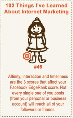 102 Things I've Learned About Internet Marketing #46 #internet #marketing #social #media #infography #make #money #online #facebook #traffic #target #search #engine #optimization #seo #affiliate #IM