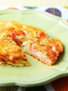 チーズと鮭とじゃがいものお手軽ガレット