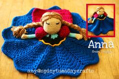 spicy tuesday crafts: My notes for the Pretty Princess Lovey pattern - Round 2 - looks similar to snow white Crochet Bebe, Love Crochet, Crochet Gifts, Crochet For Kids, Crochet Dolls, Knit Crochet, Crochet Blanket Patterns, Baby Blanket Crochet, Crochet Lovey Free Pattern